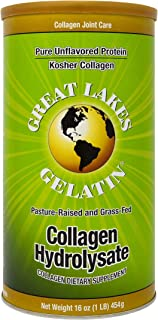 Great Lakes Pure, Unflavored Collagen, 16oz Can