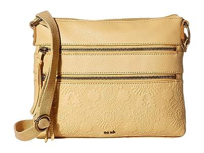 The Sak Reseda Leather Crossbody (Buttercup Floral Embossed) Cross Body Handbags