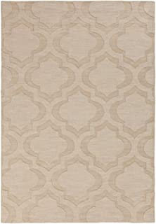 Artistic Weavers Solid/Striped Rectangle Area Rug 3'x5' Beige Central Park Kate Collection