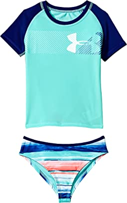Under Armour Kids - Hybrid Big Logo Rashguard Set (Big Kids)