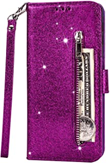 PU Leather Flip Cover Compatible with iPhone 11, Elegant purple Wallet Case for iPhone 11