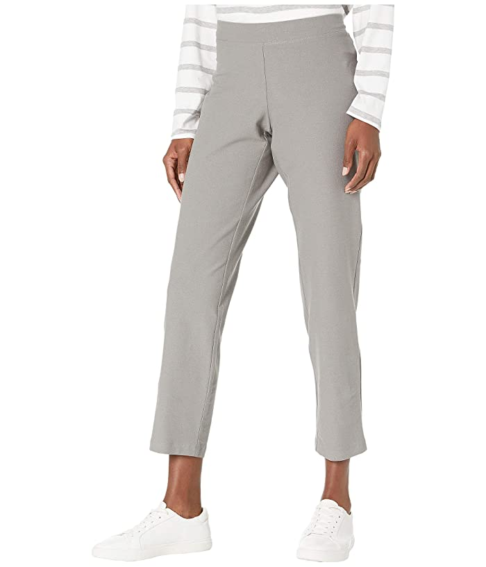 Eileen Fisher  Washable Stretch Crepe Slim Ankle Pants (Smoke) Womens Casual Pants