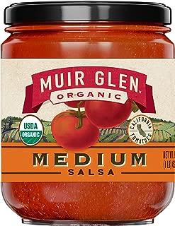 Muir Glen Organic Salsa, Medium Spice, No Sugar Added, 16 Ounce Jar (Pack of 12)
