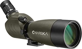 20-60x60 Blackhawk Spotting Scope, Green, Angled
