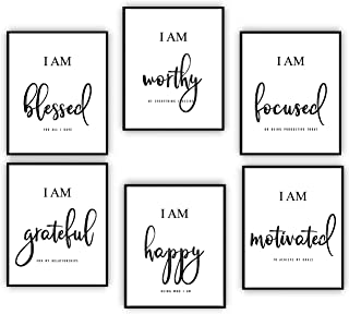 Inspirational Wall Art - Motivational Wall Art - Office & Bedroom Wall Decor - Positive Quotes & Sayings - Daily Affirmati...
