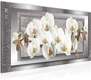 Cuadro en LienzoFlores de Orquídea 100 x 40 cm - XXL Impresión Material Tejido no Tejido Artística Imagen Gráfica Decoracion de Pared -1 pieza - Listo para colgar -205412b