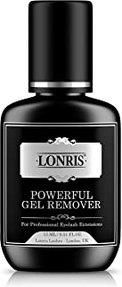 LONRIS Powerful Gel Remover for Eyelash Extension Glue - 60 Seconds Dissolution Time - Professional Fast Lash Adhesive Removing Supplies no Odor - Blue Color and Pleasant Smell - 15Ml