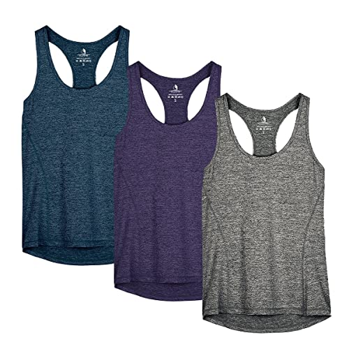 df244ba85fa9c icyzone Activewear Running Workout Clothes Yoga Racerback Tank Tops for  Women