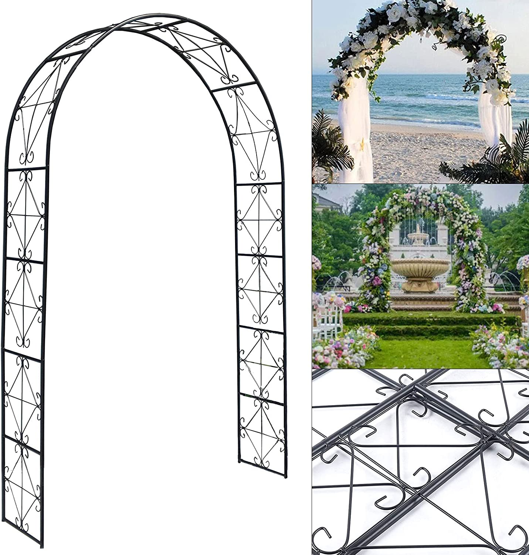 CNCEST Metal Gifts Wedding Arch Garden Arbor Decoration Iron Archway C Very popular!
