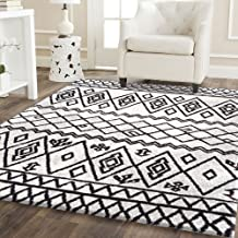 Home Culture Moroccan Abstract White Rug, 080x150cm