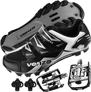 featured product Venzo Mountain Bike Bicycle Cycling Shimano SPD Shoes + Multi-Use Pedals
