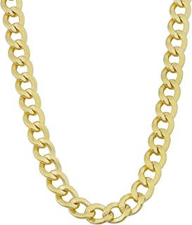 Mens 14k Yellow Gold Filled 6 mm High Polish Miami Cuban Curb Link Chain Necklace