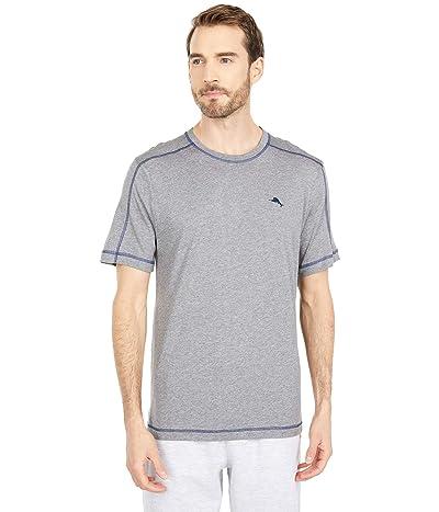 Tommy Bahama Crew Neck Lounge T-Shirt (Grey Heather) Men
