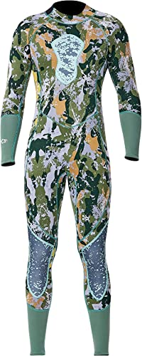 NCBH Combinaisons pour Hommes Combinaison 3MM en néoprène pour Le Corps Complet Maillot de Bain à Prougeection Thermique pour Le Surf Combinaison de plongée, Camouflage,XXL