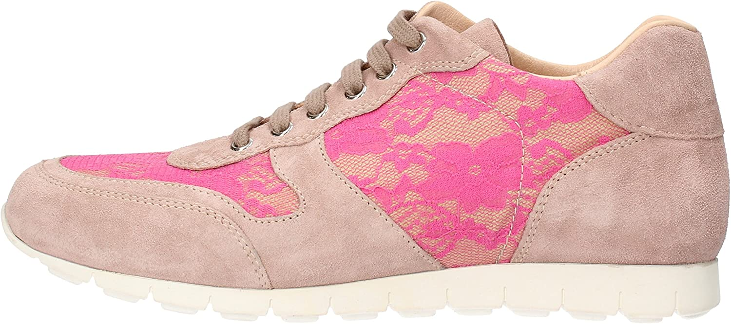 K852 & SON Fashion-Sneakers Womens Suede Pink