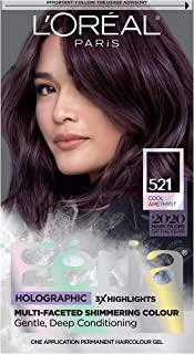 L'Oreal Paris Feria High Intensity Multi-Faceted Shimmering Permanent Hair Color, 3X Highlights, Gentle, Deep Conditioning Hair Dye, Cool Amethyst, 1 kit
