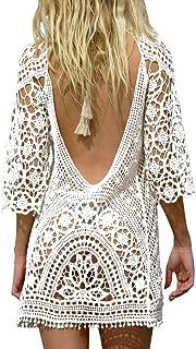 BAISHENGGT Women's Beach Bikini Swimsuit Cover Ups Crochet Lace Dress