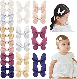 inSowni 24 Pack/12 Pairs Faux Leather PU Bow Butterfly Alligator Hair Clips Barrettes Accessories for Baby Girls Toddlers ...