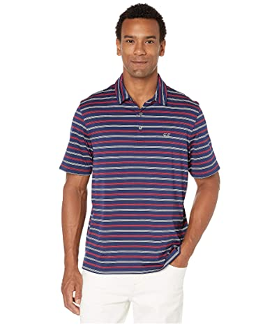Vineyard Vines Camden Stripe Sankaty Polo (Blue Depth) Men