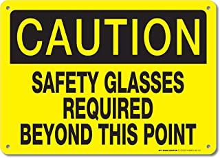 caution safety glasses