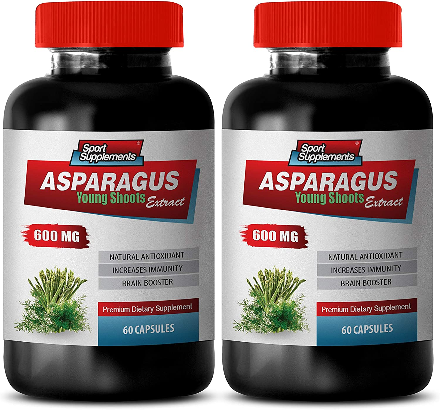 Brain and Memory Power supreme Super popular specialty store Booster - Young Asparagus Shoots MG 600