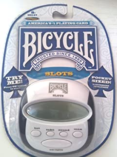 Bicycle Pocket Slots Game, 7.6cm x 7.6cm , with Sound Control & Auto Shut Off