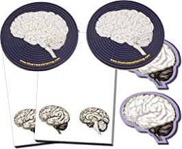 Brain Note Pad-memo Brain Sticky Notes and Brain Coasters-100sheets-6pc in One Package