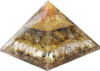 Labradorite Orgonite Pyramid per protezione EMF Rainbow Moonstone Orgone Pyramid Bilancia Orgone Energy Grid Crystal
