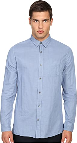 Double Weave Square Hem Long Sleeve Melrose w/ Pocket