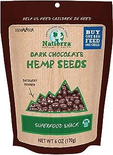 NATIERRA Himalania Dark Chocolate-Covered Hemp Seeds | Non-GMO| 6 Ounce