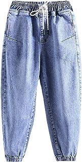 ZRFNFMA Ropa de niños, Pantalones Vaqueros, Primavera y Pantalones de otoño, Primavera y otoño, Pantalones Casuales de niños