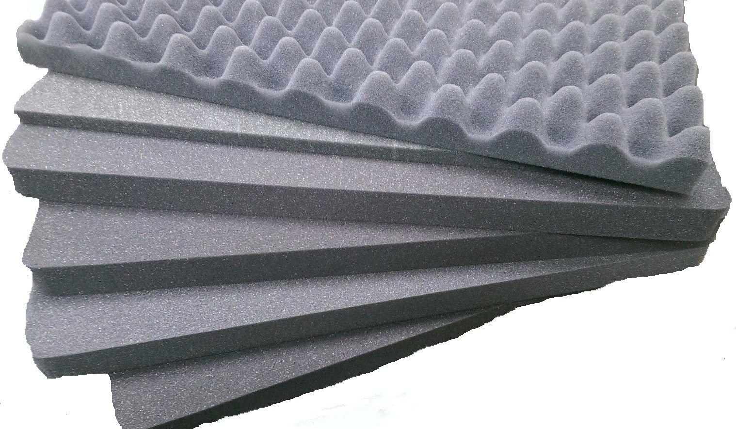 CVPKG presents Pelican 1510 upgraded 6 piece Pluck replacement foam set. 2.5lb Foam