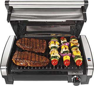Hamilton Beach Electric Indoor Searing Grill with Viewing Window and Removable Easy-to-Clean Nonstick Plate, 6-Serving, Ex...
