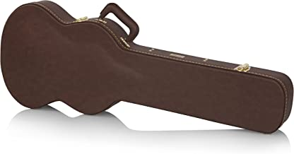 Gator Cases Deluxe Wood Case for SG Electric Guitars; Brown Exterior (GW-SG-BROWN)