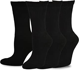 TeeHee Viscose from Bamboo Diabetic Crew Socks 3-Pack