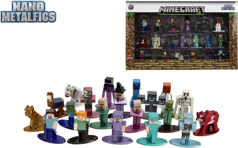 Minecraft Nano Metalfigs 100 Pack Wave 100  10.10 Inch Die-Cast Metal Figures