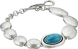 Oval Stone Line Bracelet