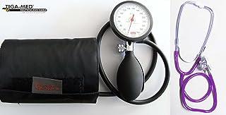 Tiga-Med Boso K 1 - Tensiómetro de brazo con estetoscopio de doble cabezal, color morado