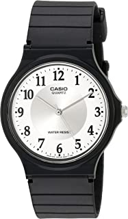 Women's MQ24-7B3LL Classic Black Resin Band Watch