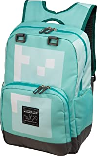 JINX Minecraft Diamond Kids School Backpack, Blue, 18