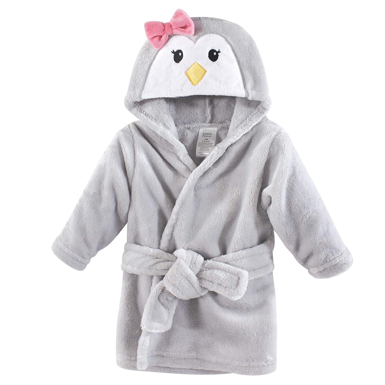 Luvable Friends Unisex Baby Plush Bathrobe, Girl Penguin, 0-9M