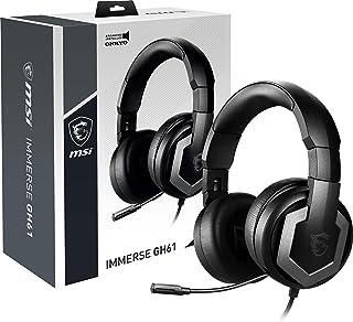 MSI Gaming Hi-Res Vitrual 7.1 Surround Sound con Auriculares Integrados ESS DAC y AMP (Immerse GH61), Negro, Grande