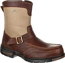 Georgia Boot Mens Athens Soft Toe Waterproof Side-Zip Work/Duty Boots,