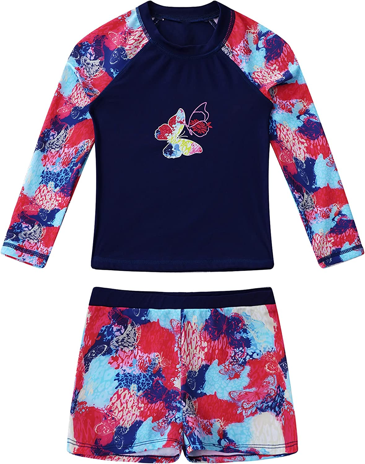 winying Kids Girls Floral Print Two Cris Pieces Max 80% OFF Tankini Classic Swimsuit