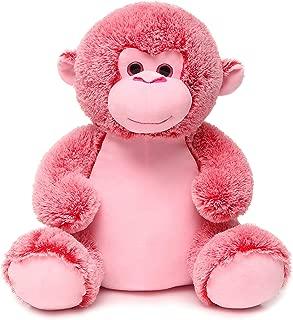 """FAYEYE 18"""" Cute Stuffed Monkey Plush Toy for Kids (Pink)"""