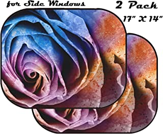 3841040 Beautiful and Romantic Pink Rose in Black and White MSD Car Sun Shade Protector Side Window Block Damaging UV Rays Sunlight Heat for All Vehicles 2 Pack Image ID