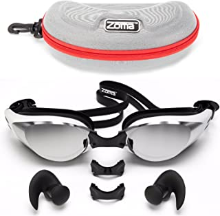 Zoma Swimming Goggles 2.0 with Anti Fog Swim Technology - 3 Piece Adjustable Nose Bridge for