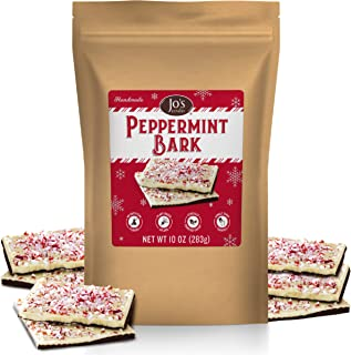 Peppermint Bark White & Dark Valentine's Day Chocolate Layers Squares Snack Topped w/Pieces of Crushed Mint Candy Cane Chip Bits & Best Valentines Gift No Artificial color Limited Edition
