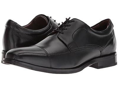 Johnston & Murphy Bartlett Casual Dress Cap Toe Oxford (Black Full Grain) Men