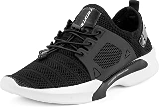 recorrer Exotic Men's Black Lace-up (Lock Laces) Casual Sneaker Shoes